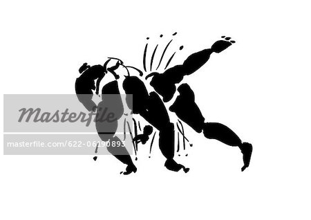 Illustration Of Fighters Stock Photo - Premium Royalty-Free, Image code: 622-06190893