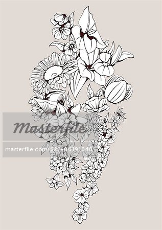 Flowers With Pale Background Stock Photo - Premium Royalty-Free, Image code: 622-06191040