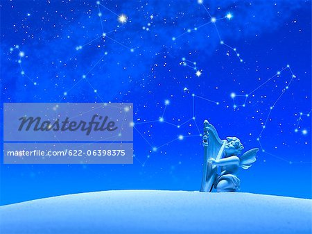 Constellations and Angel Stock Photo - Premium Royalty-Free, Image code: 622-06398375