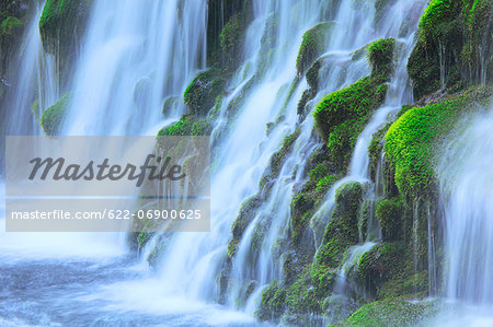 Moto Waterfall, Akita Prefecture Stock Photo - Premium Royalty-Free, Image code: 622-06900625