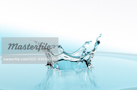 Water crown Stock Photo - Premium Royalty-Free, Image code: 622-08065167