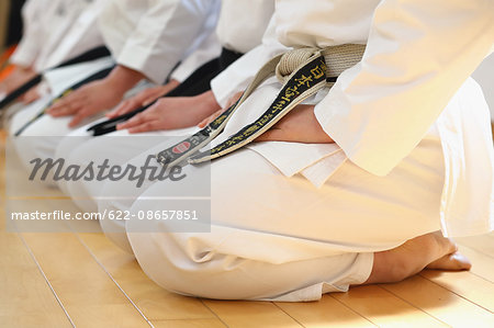 Japanese kids karate class Stock Photo - Premium Royalty-Free, Image code: 622-08657851
