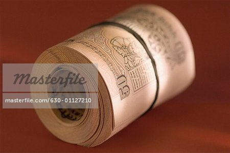 Bundle of Indian fifty rupee banknotes
