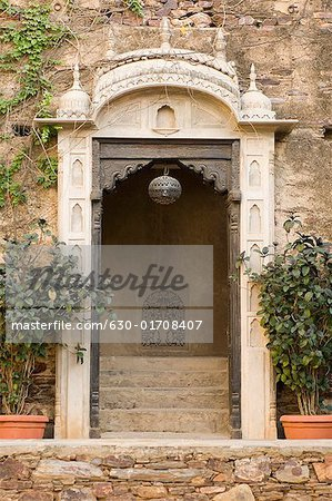 Entrance of a palace, Neemrana Fort, Neemrana, Alwar, Rajasthan, India Stock Photo - Premium Royalty-Free, Image code: 630-01708407
