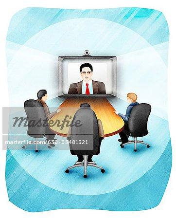 free video conferencing clip art � cliparts