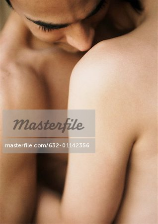 Nude couple embracing, close-up Stock Photo - Premium Royalty-Free, Image code: 632-01142356