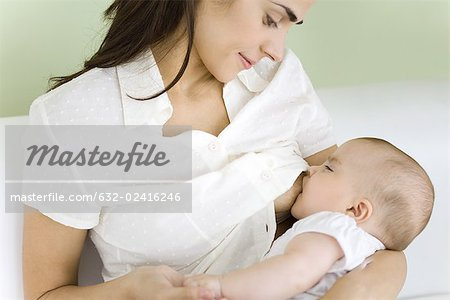 Mother breastfeeding baby, close-up Stock Photo - Premium Royalty-Free, Image code: 632-02416246