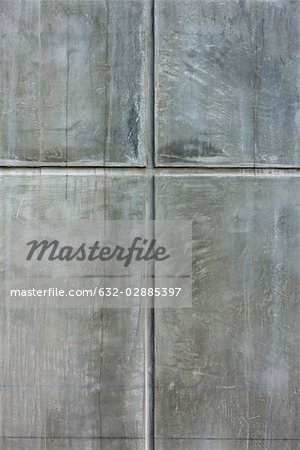Detail of grooved concrete wall Stock Photo - Premium Royalty-Free, Image code: 632-02885397