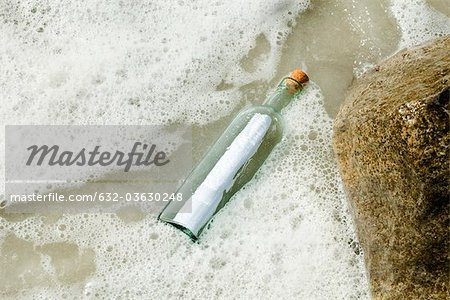 Message in a bottle Stock Photo - Premium Royalty-Free, Image code: 632-03630248