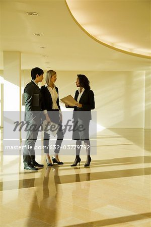 Business executives standing together talking Stock Photo - Premium Royalty-Free, Image code: 632-03779792