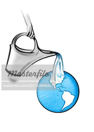 Watering the planet Stock Photo - Premium Royalty-Free, Image code: 632-03898307