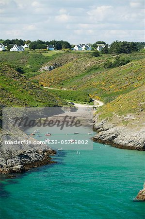 Port de Pouldon, Belle-Ile-en-Mer, Morbihan, Brittany, France Stock Photo - Premium Royalty-Free, Image code: 632-05759802