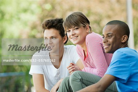 Friends hanging out together Stock Photo - Premium Royalty-Free, Image code: 632-05760162