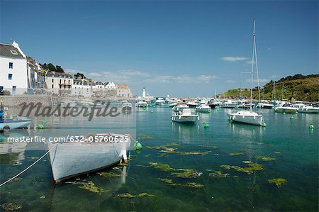 Boats in marina, Sauzon, Belle-Ile-en-Mer, Morbihan, Brittany, France Stock Photo - Premium Royalty-Free, Image code: 632-05760525