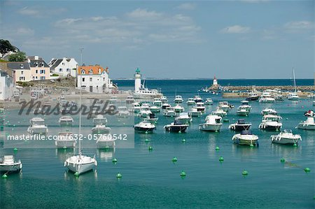 Boats in marina, Sauzon, Belle-Ile-en-Mer, Morbihan, Brittany, France Stock Photo - Premium Royalty-Free, Image code: 632-05760542