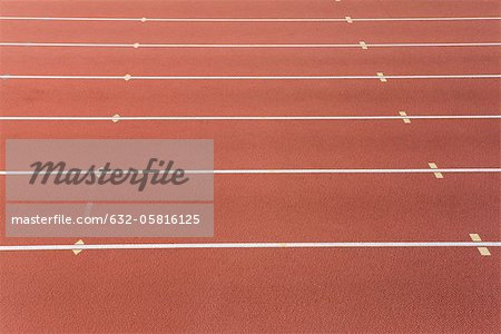 Lanes of running track Stock Photo - Premium Royalty-Free, Image code: 632-05816125