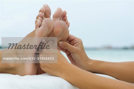 Foot massage Stock Photo - Premium Royalty-Free, Image code: 632-05816653