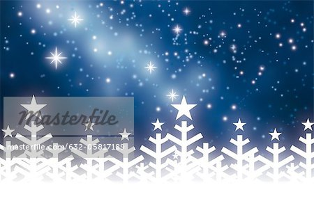 Winter night Stock Photo - Premium Royalty-Free, Image code: 632-05817189