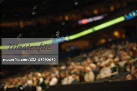 Audience in stadium, defocused Stock Photo - Premium Royalty-Free, Image code: 632-05992050