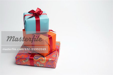 Festively wrapped gifts Stock Photo - Premium Royalty-Free, Image code: 632-05992069