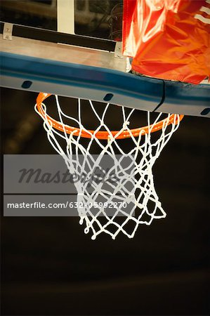 Basketball hoop, low angle view Stock Photo - Premium Royalty-Free, Image code: 632-05992270