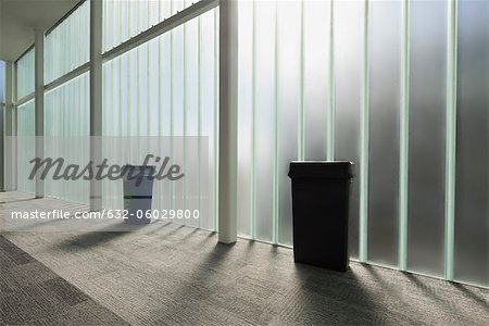 Modern lobby with glass wall Stock Photo - Premium Royalty-Free, Image code: 632-06029800