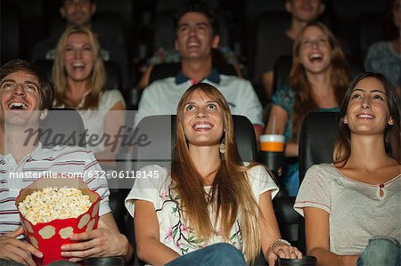 Audience watching movie in theater Stock Photo - Premium Royalty-Free, Image code: 632-06118145