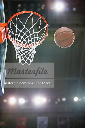 Basketball and hoop Stock Photo - Premium Royalty-Free, Image code: 632-06317721