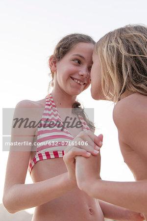 Friends bonding at the beach