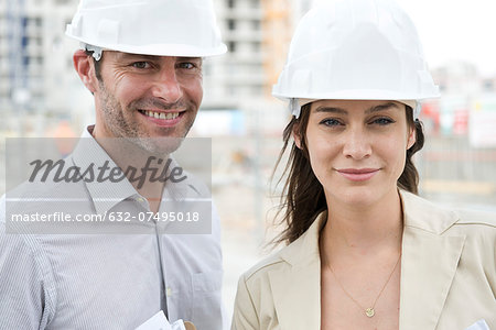 Engineers at construction site Stock Photo - Premium Royalty-Free, Image code: 632-07495018