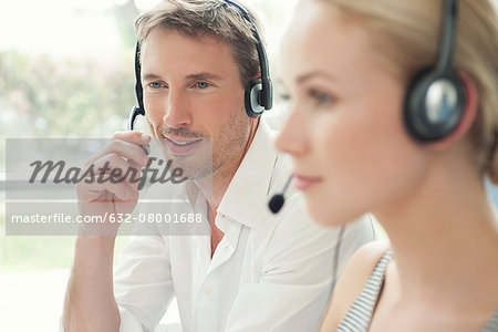 Workers in call center Stock Photo - Premium Royalty-Free, Image code: 632-08001688