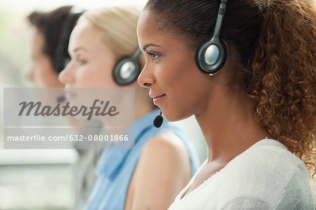 Working in call center Stock Photo - Premium Royalty-Free, Image code: 632-08001866