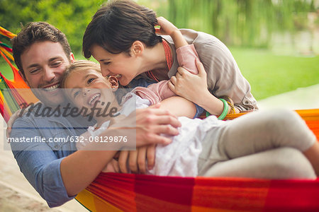 Family having fun together at home on the weekend Stock Photo - Premium Royalty-Free, Image code: 632-08129876