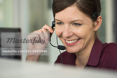 Receptionist at work, portrait Stock Photo - Premium Royalty-Free, Image code: 632-08227486