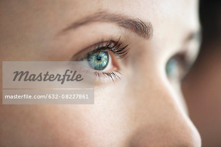 Close-up of woman's eye Stock Photo - Premium Royalty-Free, Image code: 632-08227861