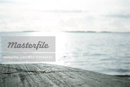 Extreme close-up of rocky surface, sea in background Stock Photo - Premium Royalty-Free, Image code: 633-02645432