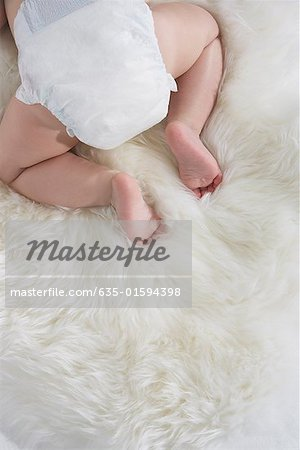A baby's bottom Stock Photo - Premium Royalty-Free, Image code: 635-01594398