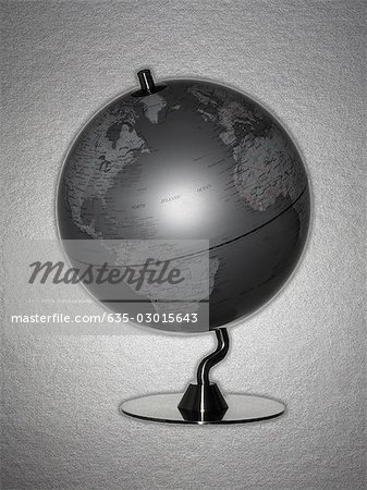 Retro globe Stock Photo - Premium Royalty-Free, Image code: 635-03015643