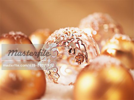 Close up of Christmas ornaments Stock Photo - Premium Royalty-Free, Image code: 635-03372992
