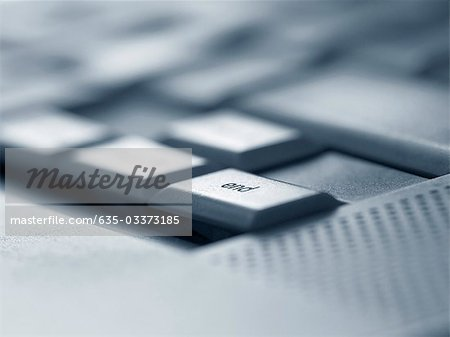 Close up of end key on computer keyboard Stock Photo - Premium Royalty-Free, Image code: 635-03373185