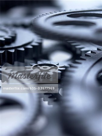 Close up of metal cogs Stock Photo - Premium Royalty-Free, Image code: 635-03577969