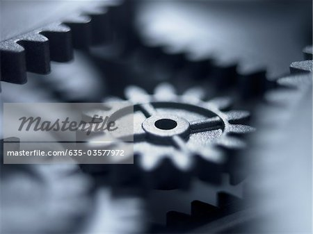 Close up of metal cogs Stock Photo - Premium Royalty-Free, Image code: 635-03577972