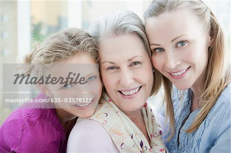 Smiling grandmother, mother and daughter Stock Photo - Premium Royalty-Free, Image code: 635-03578122
