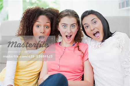 Surprised teenage girls Stock Photo - Premium Royalty-Free, Image code: 635-03684923