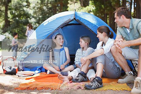 Family camping Stock Photo - Premium Royalty-Free, Image code: 635-03860190