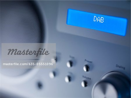 Close up of disc player screen and dials Stock Photo - Premium Royalty-Free, Image code: 635-05551096