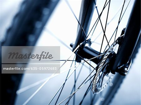 Close up of bicycle wheel Stock Photo - Premium Royalty-Free, Image code: 635-05972683