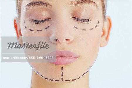 Portrait of woman with lines on her face Stock Photo - Premium Royalty-Free, Image code: 635-06045629