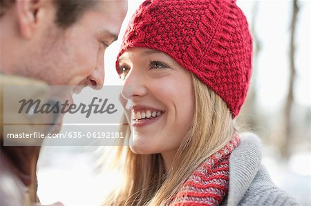 Close up of smiling couple face to face Stock Photo - Premium Royalty-Free, Image code: 635-06192181