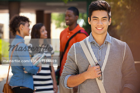 Smiling students Stock Photo - Premium Royalty-Free, Image code: 635-07364409